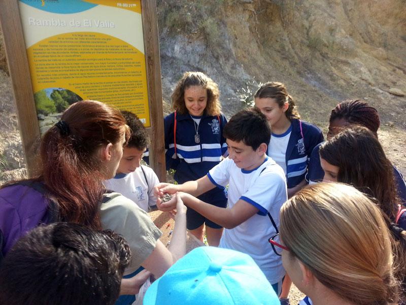 Alumnos en la visita a La Rambla de El Valle