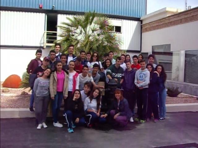 Alumnos de 4º ESO durante la visita