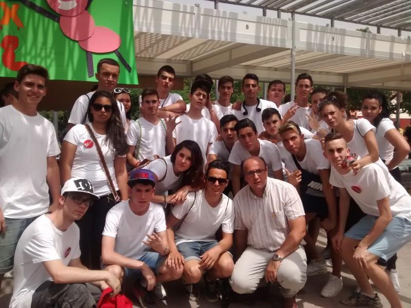 Alumnos del Colegio San José de Espinardo asistentes al VI Minimarket escolar de la Región de Murcia