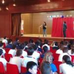 Clowndestino Teatro en el colegio: misterio y literatura sobre el escenario