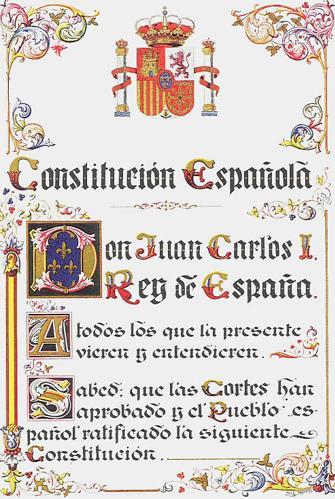 «Constitución Española de 1978. Primera Página.»