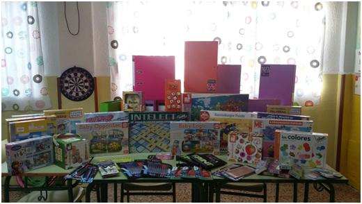 Este mes de febrero ya tenemos todo el material escolar y juegos educativos canjeados por el premio.