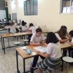 Los alumnos de 1º ESO crean estructuras trianguladas