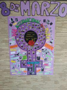 Mural 8 de marzo día de la mujer - Dedicado a todas las mujeres poderosas del Colegio San José